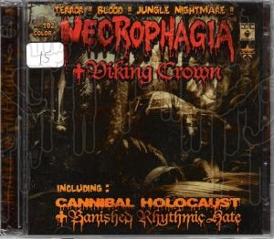 NECROPHAGIA / VIKING CROWN - Split (2x C.D.)
