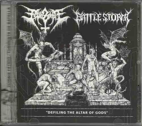 "FETID ZOMBIE / BATTLESTORM-Split C.D. ""Defiling the Altar of Gods"""