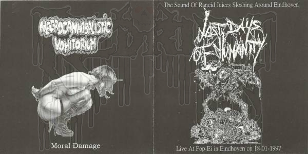 LAST DAYS OF HUMANITY / NECROCANNIBALISTIC VOMITORIUM-Split C.D.
