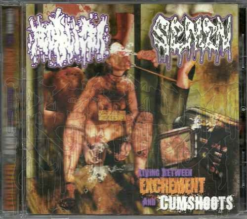 "FECALIZER / SEMEN ""Living Between Excrement And Cumshoots"" Live Split C.D"