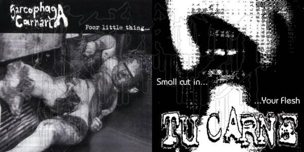 "SARCOPHAGA CARNARIA  / TU CARNE - Split 7"" EP"